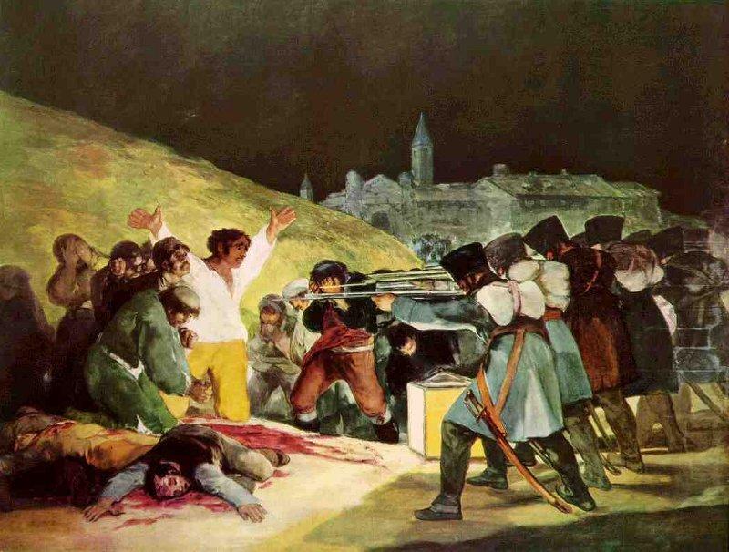"""""""Los fusilamientos del 3 de mayo"""" de Francisco de Goya"""