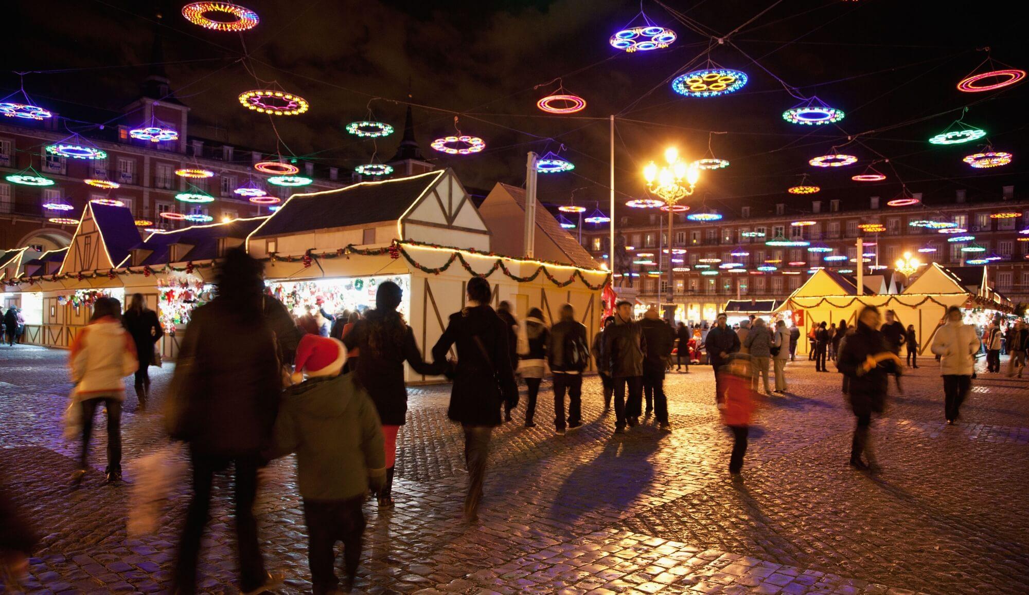 Mercado navideño en la Plaza Mayor